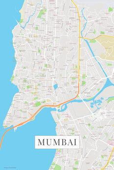 Mapa Mumbai color