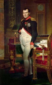 Reprodukcja Napoleon Bonaparte in his Study at the Tuileries, 1812