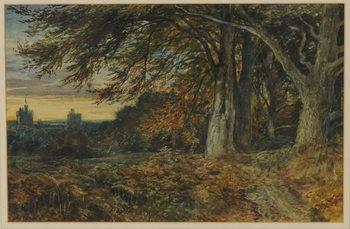 Reprodukcja Naworth Castle, 1840-45