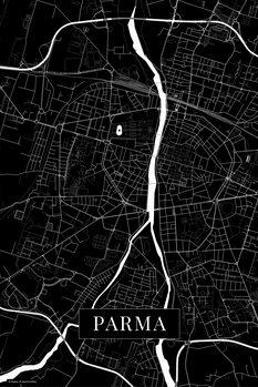Mapa Parma black