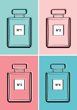 Ilustracja Pastel perfumes