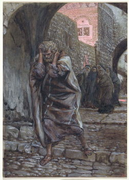Reprodukcja Peter Went Out and Wept Bitterly, illustration for 'The Life of Christ', c.1886-94