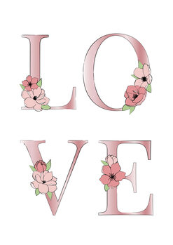 Ilustracja Pink love