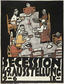 Reprodukcja Poster for the Vienna Secession, 49th Exhibition, Die Freunde, 1918