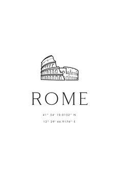 Ilustracja Rome coordinates