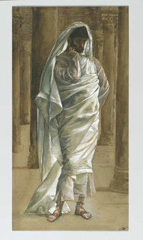 Reprodukcja Saint Thomas, illustration from 'The Life of Our Lord Jesus Christ', 1886-94