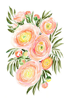 Ilustracja Savanna loose watercolor bouquet