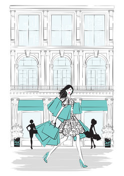 Ilustracja Shop New York
