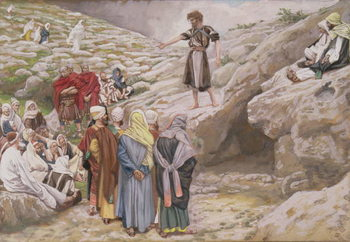 Reprodukcja St. John the Baptist and the Pharisees, illustration for 'The Life of Christ', c.1886-96