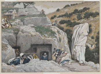 Reprodukcja The Apostles' Hiding Place, illustration from 'The Life of Our Lord Jesus Christ', 1886-94