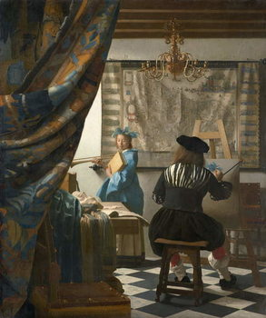 Reprodukcja The Artist's Studio, c.1665-66