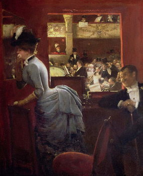 Reprodukcja The Box by the Stalls, c.1883