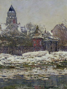 Reprodukcja The Church at Vetheuil, 1879