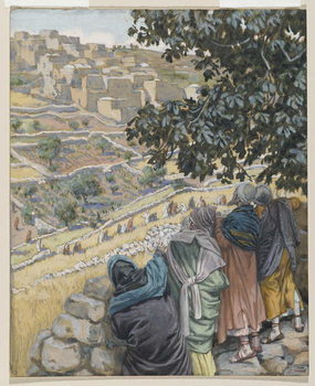 Reprodukcja The Disciples Eat Wheat, illustration from 'The Life of Our Lord Jesus Christ'