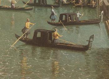 Reprodukcja The Entrance to the Grand Canal and the church of Santa Maria della Salute, Venice (oil on canvas)