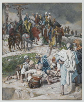 Reprodukcja The Garments Divided by Cast Lots, illustration from 'The Life of Our Lord Jesus Christ', 1886-94