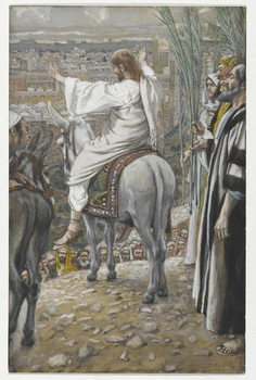 Reprodukcja The Lord Wept, illustration from 'The Life of Our Lord Jesus Christ', 1886-94