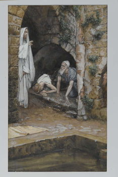 Reprodukcja The Man with an Infirmity, illustration from 'The Life of Our Lord Jesus Christ'