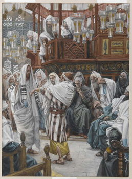 Reprodukcja The Man with the Withered Hand, illustration from 'The Life of Our Lord Jesus Christ'