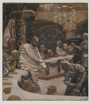 Reprodukcja The Marriage at Cana, illustration from 'The Life of Our Lord Jesus Christ'