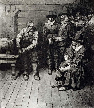 Reprodukcja 'The Master Caused us to have some Beere', from Harper's Magazine, 1883
