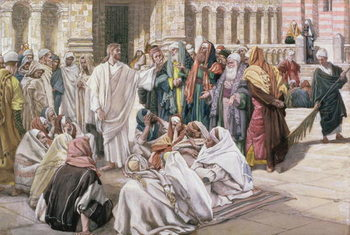 Reprodukcja The Pharisees Question Jesus, illustration for 'The Life of Christ', c.1886-96