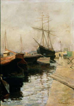 Reprodukcja The Port of Odessa, 1900