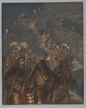 Reprodukcja The Procession of Judas, illustration from 'The Life of Our Lord Jesus Christ', 1886-94