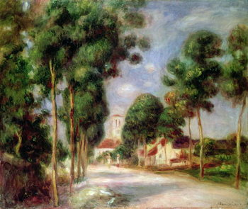 Reprodukcja The Road to Essoyes, 1901