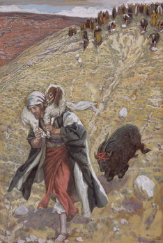 Reprodukcja The Scapegoat, illustration for 'The Life of Christ', c.1886-94