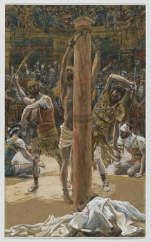 Reprodukcja The Scourging on the Back, illustration from 'The Life of Our Lord Jesus Christ', 1886-94