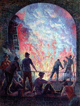 Reprodukcja The Steel Works, 1895