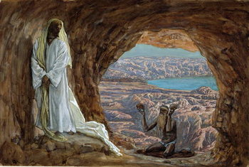 Reprodukcja The Temptation in the Wilderness, illustration for 'The Life of Christ', c.1886-94