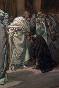 Reprodukcja The Unbelief of St. Thomas, illustration for 'The Life of Christ', c.1884-96