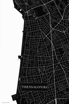 Mapa Thessaloniki black