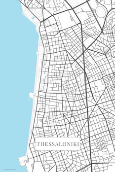 Mapa Thessaloniki bwhite
