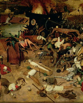 Reprodukcja Triumph of Death, detail of the central section, 1562