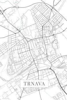 Mapa Trnava white