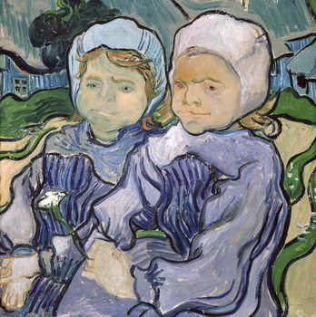 Reprodukcja Two Little Girls, 1890