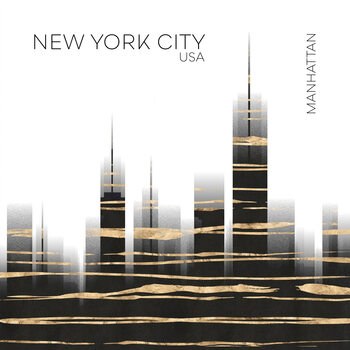 Ilustracja Urban Art NYC Skyline