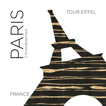 Ilustracja Urban Art PARIS Eiffel Tower