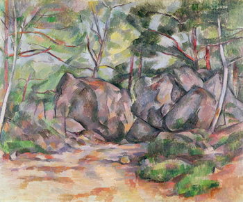 Reprodukcja Woodland with Boulders, 1893