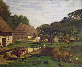 Reprodukcja A Farmyard in Normandy, c.1863