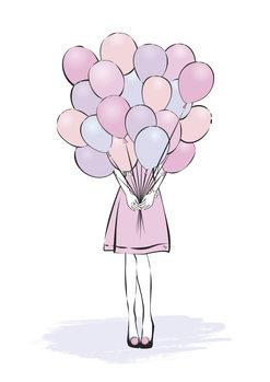 Ilustracja Balloons