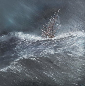 Reprodukcja  Beagle in a storm off Cape Horn (2) Dec.24th1832, 2014,