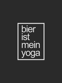 Ilustracja bier ist me in yoga
