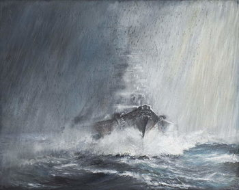 Reprodukcja  Bismarck 'through curtains of Rain Sleet & Snow' 22/05/1941. 2007,