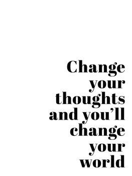 Ilustracja Change your thoughts