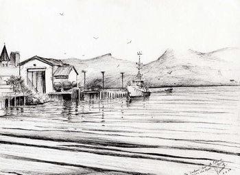Reprodukcja  Customs boat at Oban, 2007,