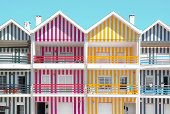 Fotografia artystyczna Four Houses of Striped Colors